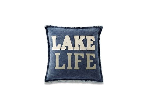 Lake Life Washed Canvas Lake Pillows