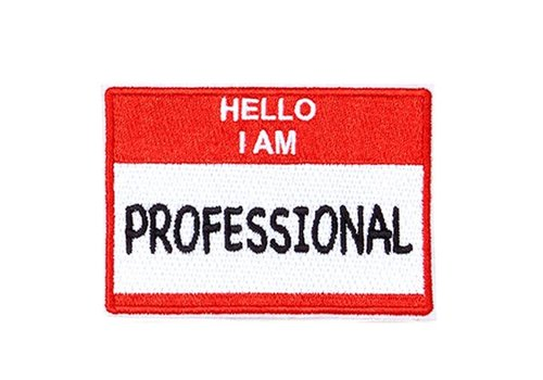 Oliver Thomas Hello I am a Professional RedWht Peal and Stick Badge