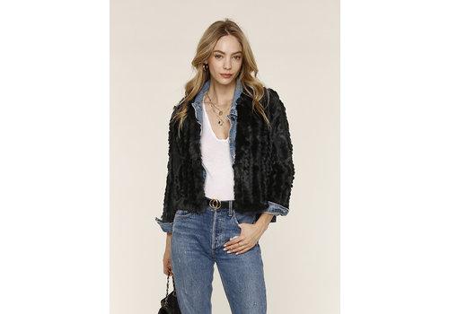 Heartloom Rosa Fur Jacket Black