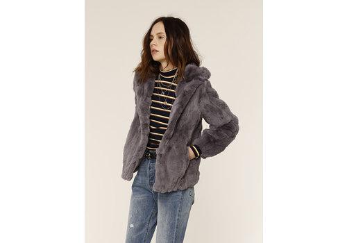 Heartloom Yuko Rabbit Fur Coat Ash