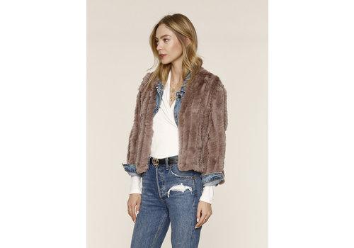 Heartloom Rosa Rabbit Fur Jacket Mist