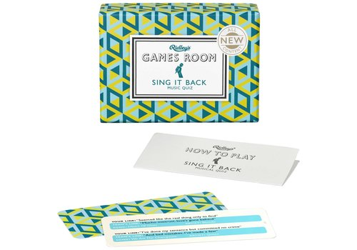 Wild & Wolf Ridley's Games Room Sing it Back Card Game
