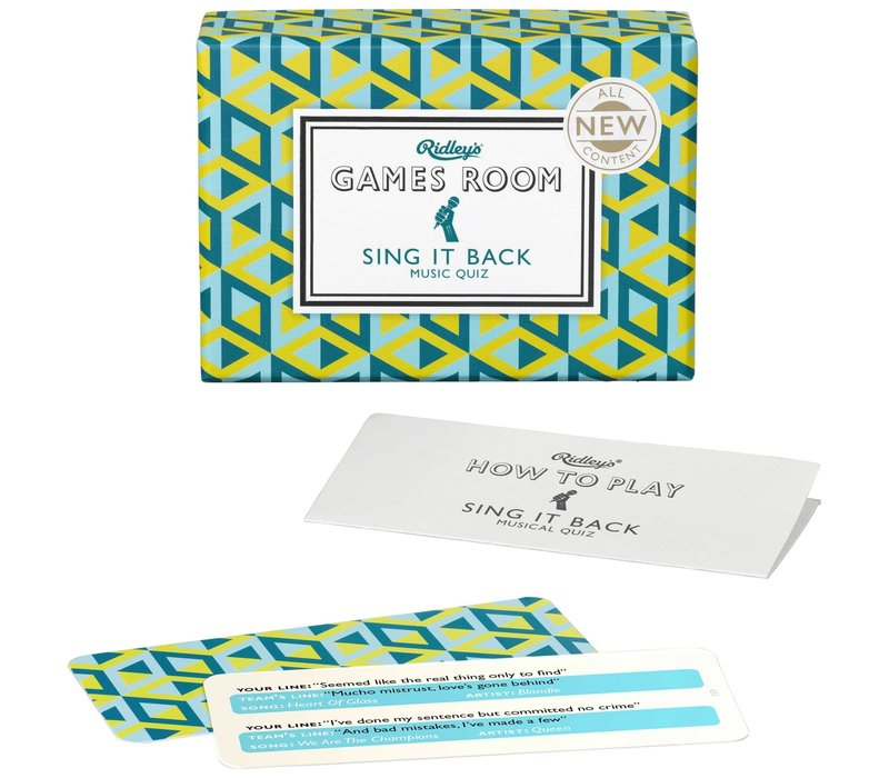 Ridley's Games Room Sing it Back Card Game