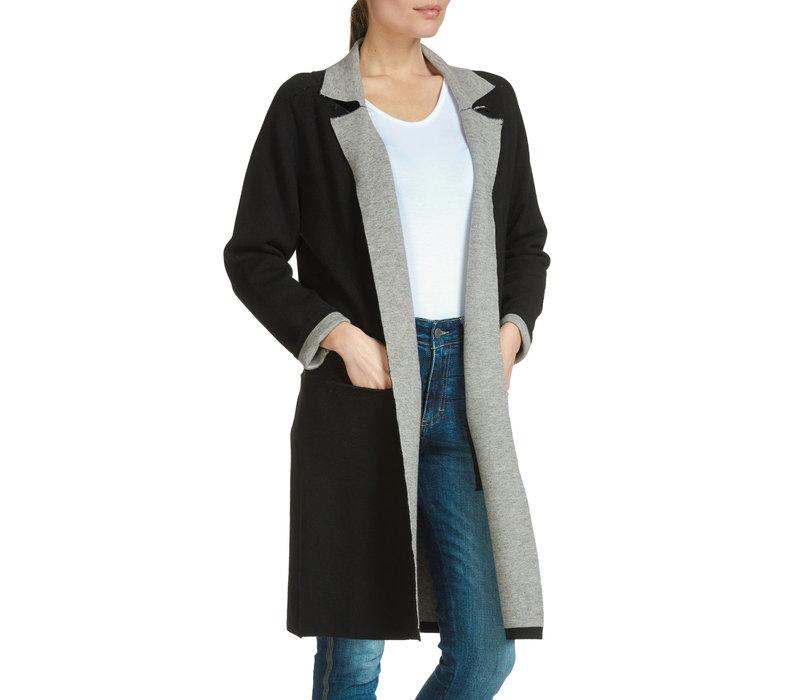 Black Jacket with Grey Detail