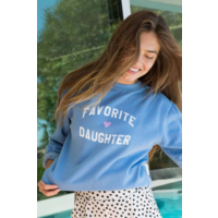 Favorite Daughter Sweatshirt Light Blue
