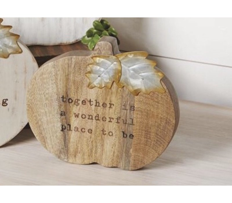 Small Chunky Wood Pumpkin Plaques