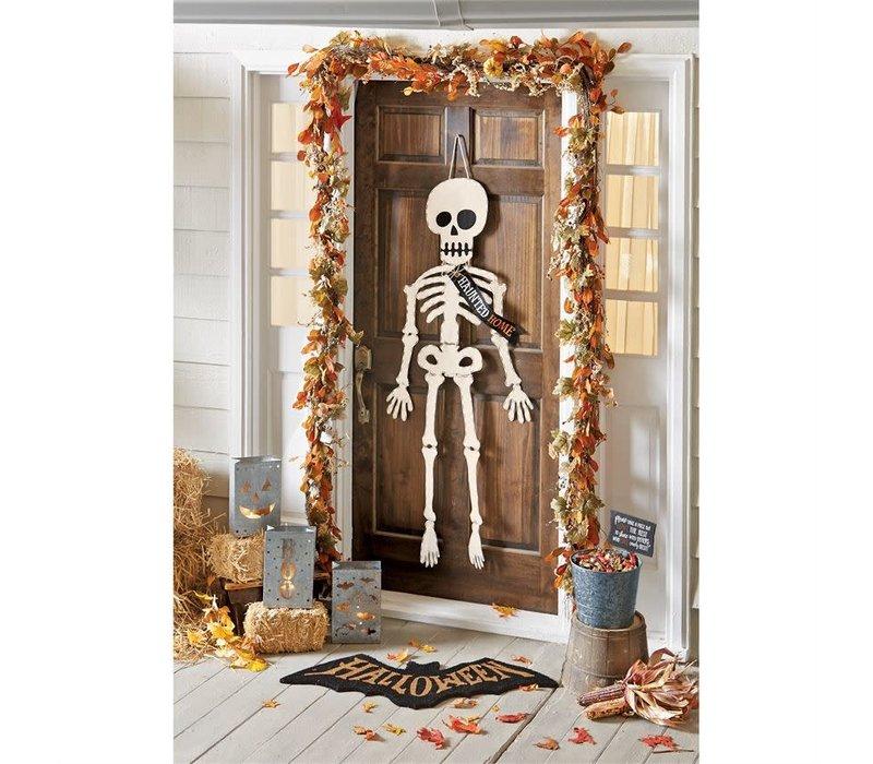 Canvas Skeleton Door Hanger