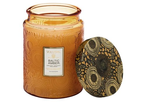Voluspa Baltic Amber Large Glass Jar Candle