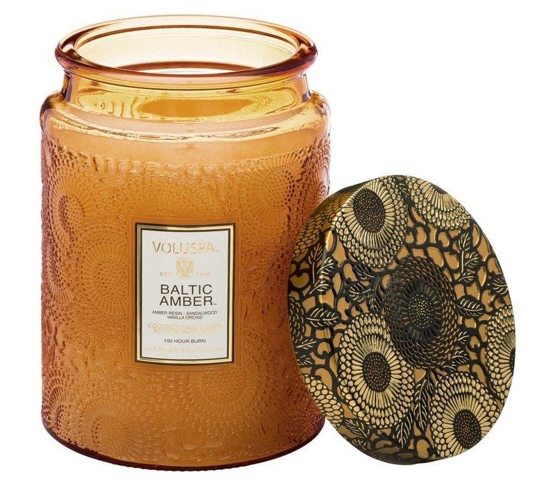 Baltic Amber Large Glass Jar Candle