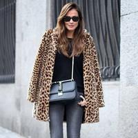 Long Leopard Coat
