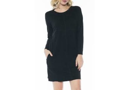 Suede Black Tunic Dress
