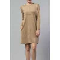 Suede Khaki Tunic Dress