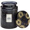 Moso Bamboo Large Embossed Glass Jar Candle