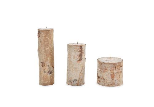 Birch Bark Tea Light Holder Set of 3