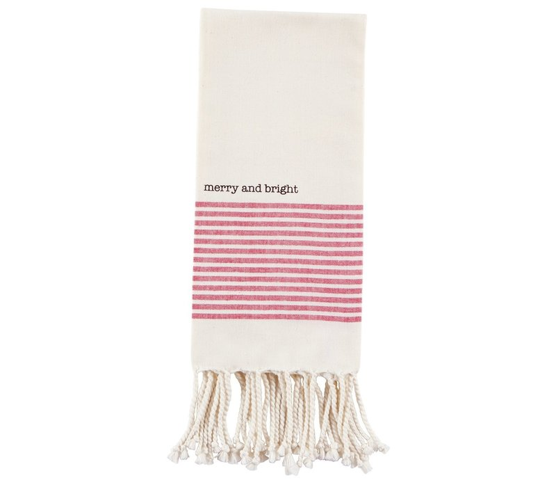 Red Merry Turkish Towel