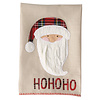 Santa Tartan Cable Knit Christmas Towels