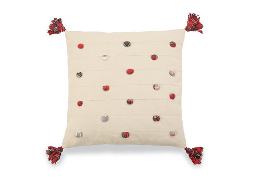 Square Tartan Pom Pom Pillow