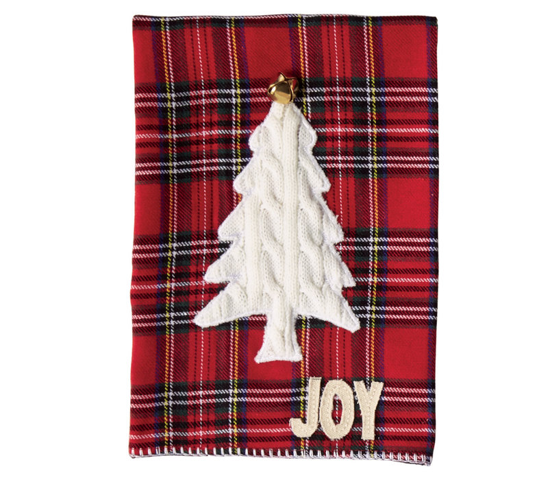 Tree Tartan Cable Knit Christmas Towels