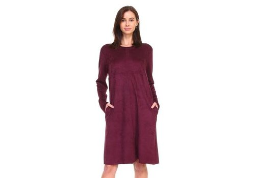Suede Mulberry Tunic Dress