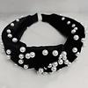 Black Velvet Headband with Pearls