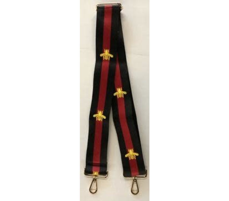 Black/Red/Bee Strap