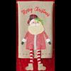 Santa Tartan Dangle Leg Towel
