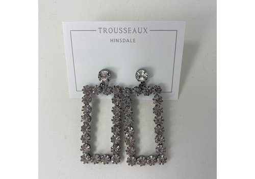 Crystal Rectangle Large Earring