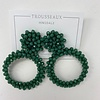 Large Green Beaded Earrings