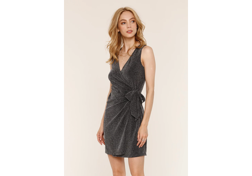 Rory Wrap Dress Gunmetal