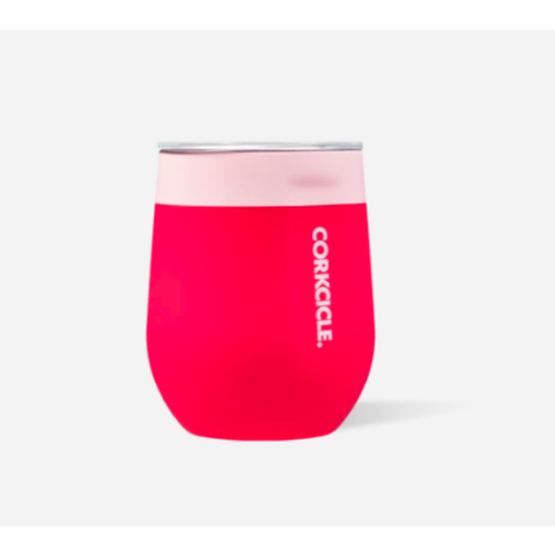 12 oz Stemless Color Block Shortcake