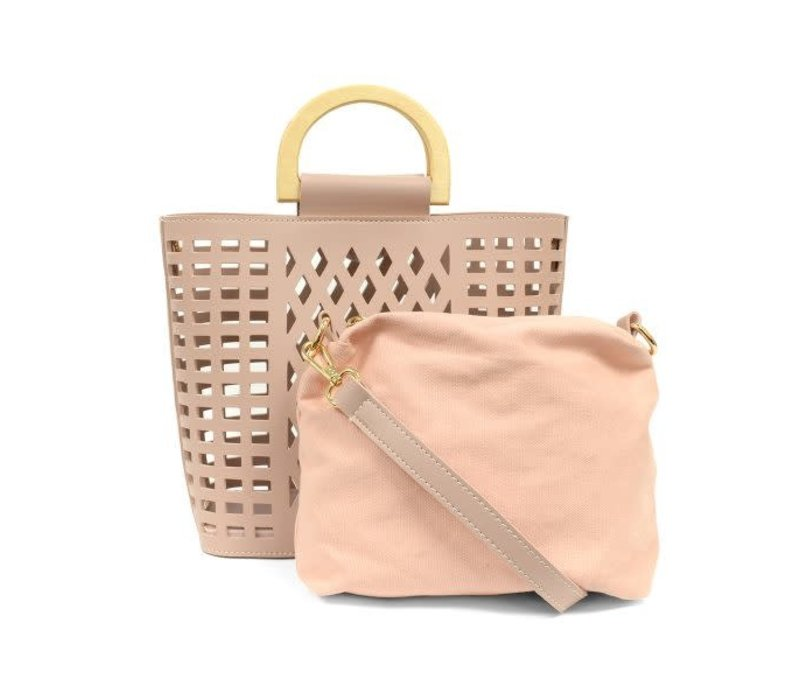 Light Pink Madison Cut Out Tote