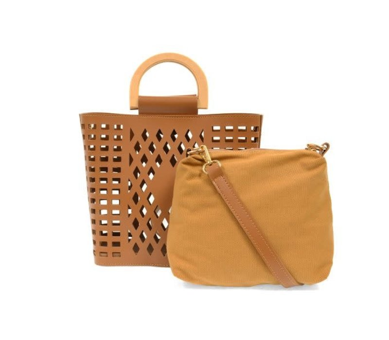 Camel Madison Cut Out Tote