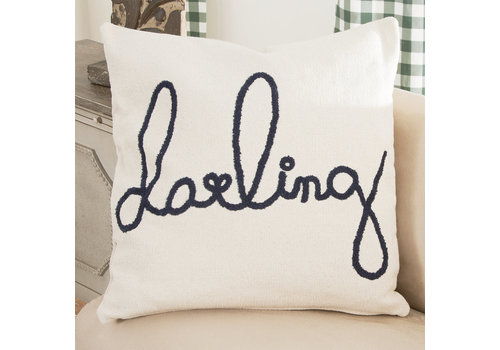 """26'' Square Cotton Pillow """"Darling"""""""