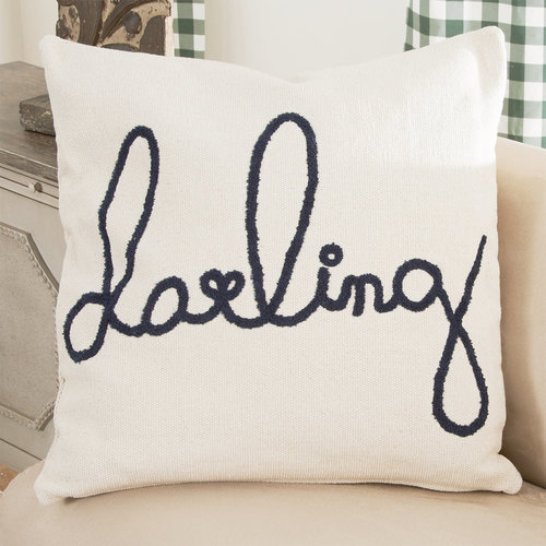 "26'' Square Cotton Pillow ""Darling"""