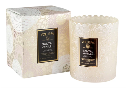 Santal Vanille Boxed Scalloped Candlepot
