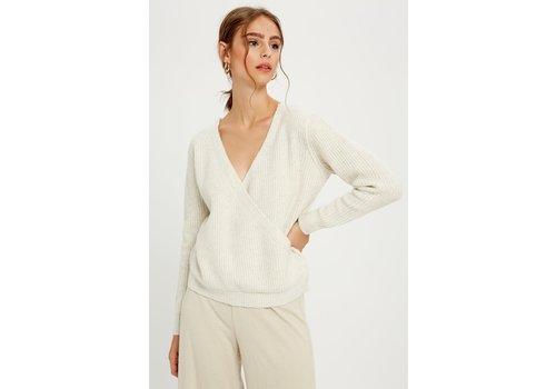 Wishlist Cream Wrap Sweater