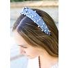 Audrey Denim Headband with Pearls