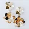 Lou & Co Long Gold Flower Earrings