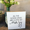 All The Good Ones Are A Little Bit Crazy-6 x 6 Plaque