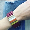 Burgundy Multi Colorblock Bracelet
