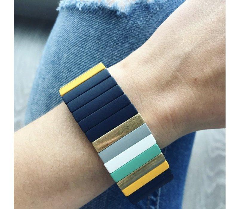 Navy Multi Colorblock Bracelet