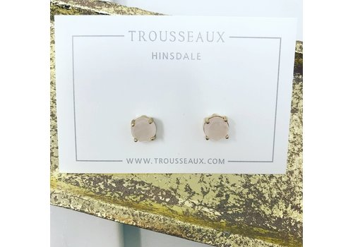 Rose/Gold Stone Studs