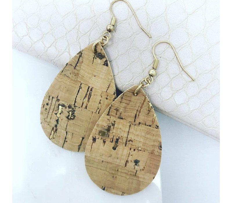 Cork Teardrop Earrings