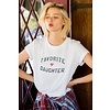 Favorite Daughter Fitted Vanessa Tee-White