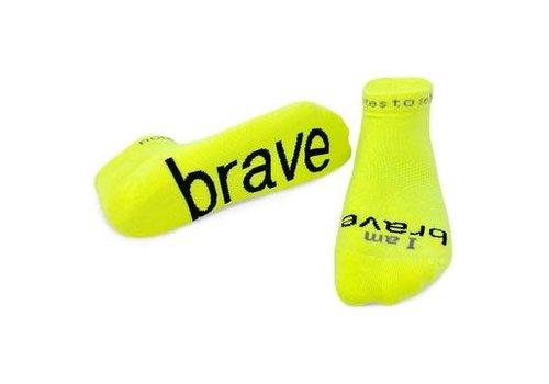 "Yellow/Black ""I am Brave"" Sock"