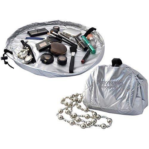 Lay-n-Go Cosmetic Bag-Metallic Silver
