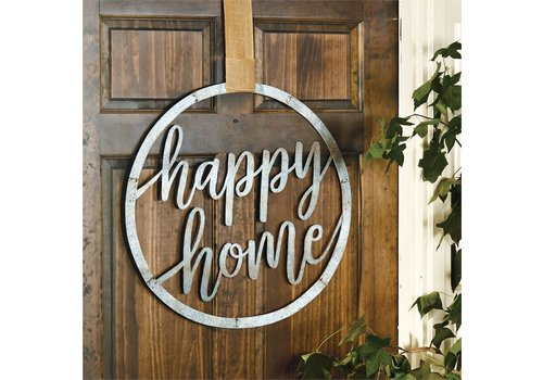 Happy Home Tin Door Hanger