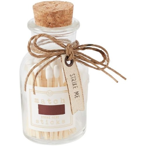 Small White Match Stick Bottle Set