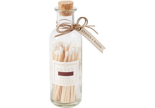 Large White Match Stick Bottle Set