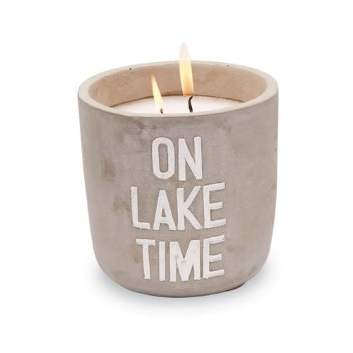 On Lake Time Citronella Candle